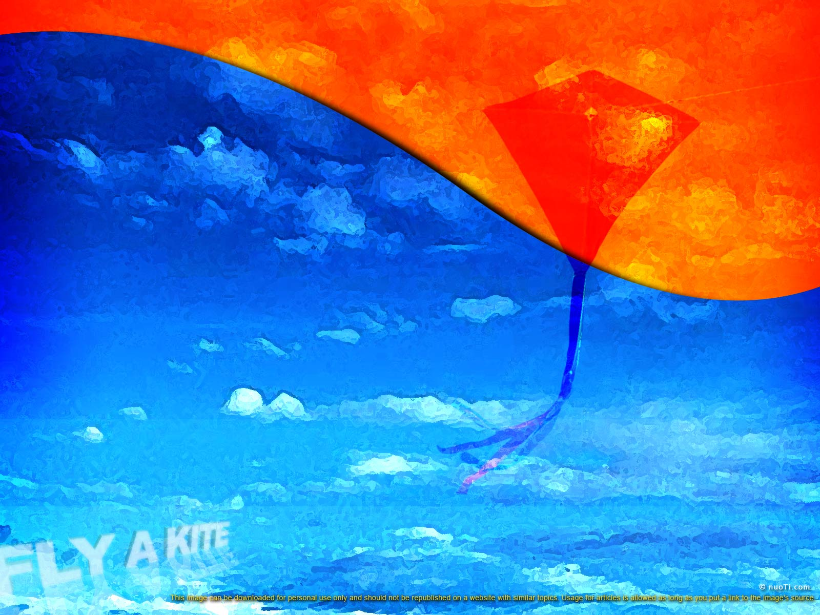 Kite Background background with fly a kite